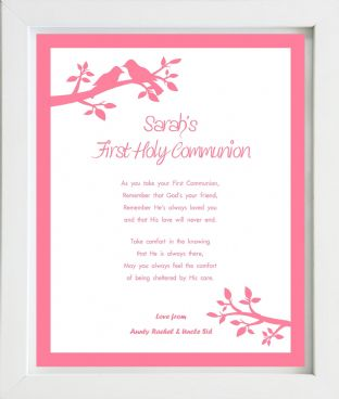 Personalised Girls First Holy Communion Print Design 2